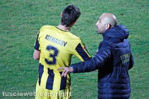 Sport - Calcio - Viterbese - Antonio Calabro e Zhivko Atanasov