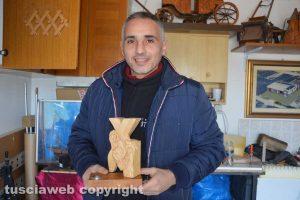 Tarquinia - Lo scultore Mario Fabbri