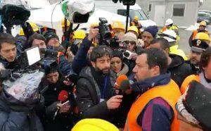 Matteo Salvini ai cantieri della Tav
