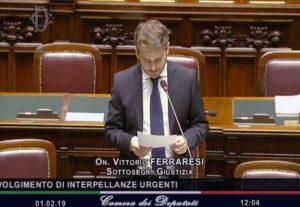 Il sottosegretario alla Giustizia Vittorio Ferra