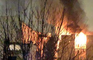 Parigi - L'incendio in un palazzo