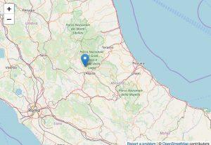 L'aquila - scossa di terremoto con epicentro Pizzoli