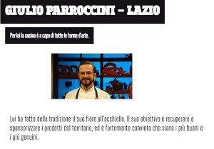 """Giulio Parroccini a """"Cuochi d'Italia"""""""