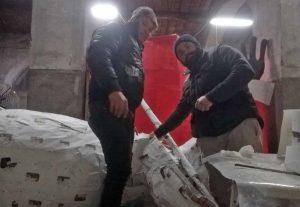 Montefiascone - La preparazione dei carri allegorici