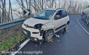 Montefiascone - L'incidente sulla Cassia