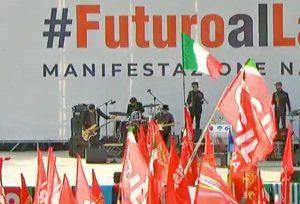 Roma - I sindacati in piazza