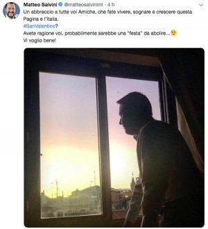 Il post di Matteo Salvini