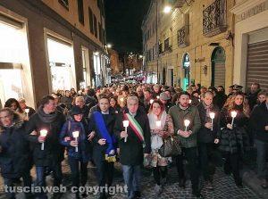 Viterbo - La fiaccolata contro la mafia