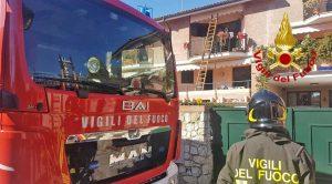 Montecatini Terme - L'intervento dei vigili del fuoco