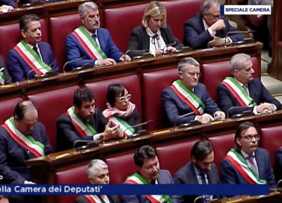 Roma - L'intervento del sindaco Giovanni Arena alla Camera