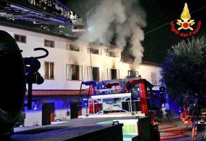 Padova - L'intervento dei vigili del fuoco