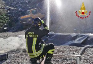 Pesaro Urbino - L'intervento dei vigili del fuoco