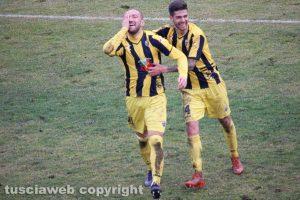 Sport - Calcio - Viterbese - L'esultanza di Davide Luppi