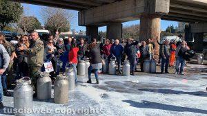 Viterbo - La protesta dei pastori
