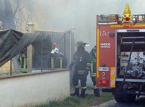 Viterbo - Incendio in località La Frasca