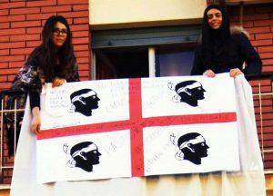 L'azienda agricola sorelle Sanna in protesta