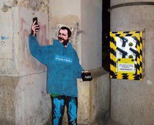 Roma - Opera dello street artist Sirante