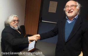 Tribunale - Gli psichiatri Alessandro Meluzzi e Giovanni Battista Traverso si salutano prima del processo