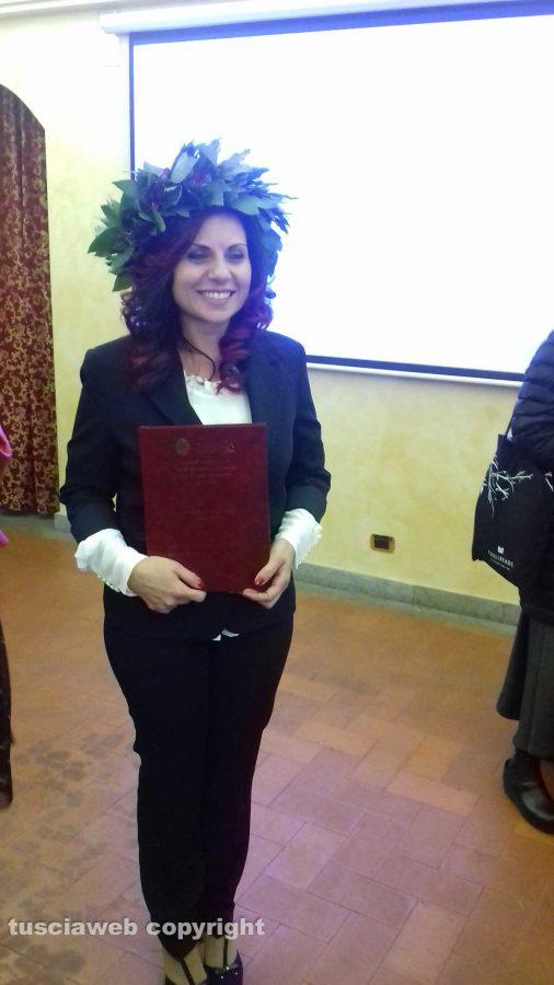 La neo dottoressa Anna Ricciardiello