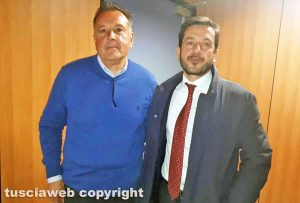 L'ex sindaco Dino Primieri con l'avvocato Pier Gerardo Santoro (a destra)