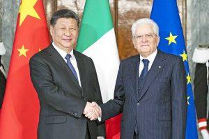 Xi Jinping e Sergio Mattarella