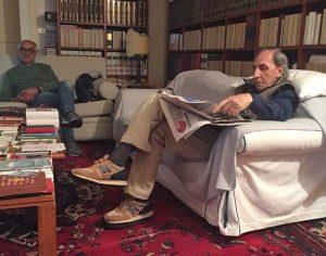 Franco Battiato in compagnia del cantautore Luca Madonia