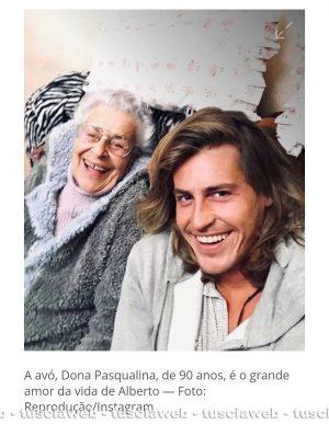 Alberto Mezzetti con nonna Paqualina