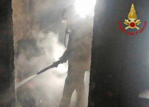 Terni - L'intervento dei vigili del fuoco