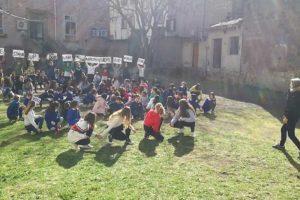 Viterbo - Il flash mob all'istituto Fantappiè