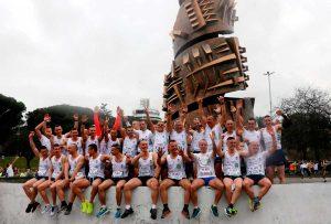 Sport - Gli atleti della scuola sottufficiali alla Roma-Ostia half marathon