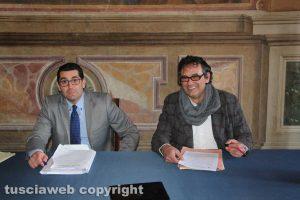Giacomo Barelli (Viva Viterbo) e Massimo Erbetti (M5S)