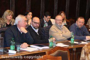 Viterbo - Consiglio comunale - Scardozzi, Bianchini e Buzzi