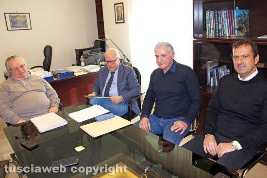 Viterbo - Il commissario Ater Ivan Grazini assieme a Fabrizio Urbani, Roberto Rondelli, Antonio Iezzi
