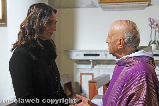 Viterbo - Paola Bugiotti e monsignor Carlo Bellocchio