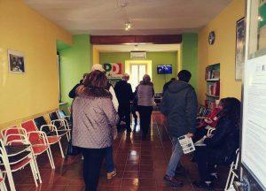 Orte - La fila ai seggi delle primarie del Pd