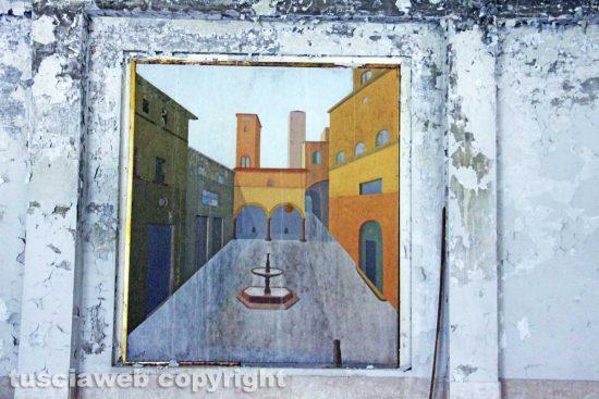 Viterbo - Il saccheggio delle Terme ex Inps - Un quadro di Franco Miele