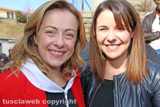 Gradoli - Giorgia Meloni e Claudia Nunzi