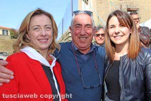 Gradoli - Giorgia Meloni, Antonio Scardozzi e Claudia Nunzi