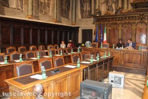 Viterbo - Consiglio comunale straordinario - Seduta deserta