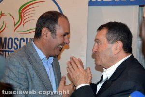 Il sindaco di Montalto di Castro Sergio Caci con Gianni Moscherini