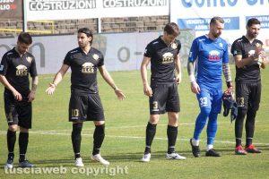 Sport - Calcio - Viterbese - Da sinistra: Baldassin, Palermo, Atanasov, Valentini e Sini
