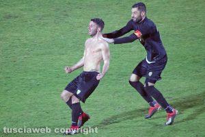 Sport - Calcio - Viterbese - L'esultanza di Mario Pacilli