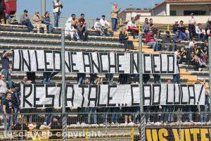 Sport - Calcio - Viterbese - Lo striscione dedicato a Luca Paolella
