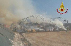 Treviso - L'incendio del capannone agricolo