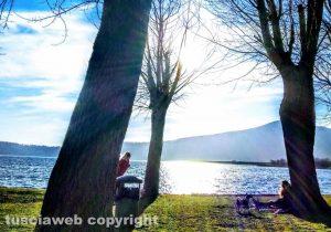 Carbognano - Tramonto sul lago di Vico