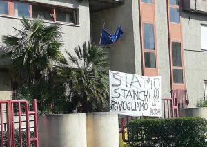 Civita Castellana - La protesta per la scuola Rodari