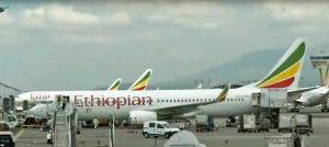Un Boeing della Ethiopian Airlines