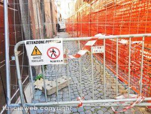 Viterbo - Iniziati i lavori in via La Fontaine