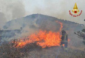 Torino - L'emergenza incendi - L'intervento dei vigili del fuoco