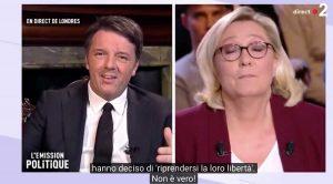 Matteo Renzi e Marine Le Pen
